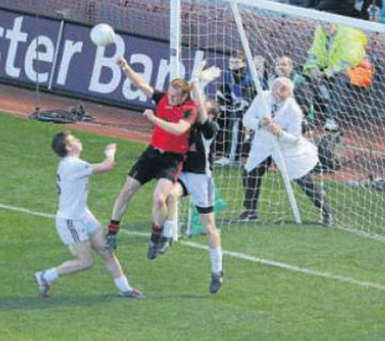 "Benny Coulter breaks Kildare hearts with his ""square ball"" goal in the All Ireland Semi Final."